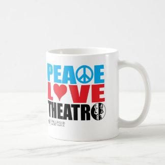 Peace Love Theatre Coffee Mug