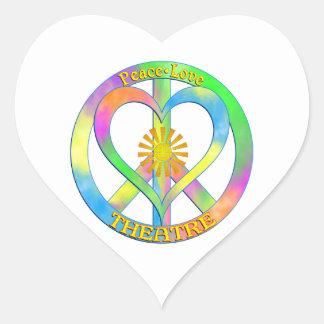 Peace Love Theatre Heart Sticker