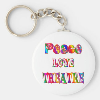 Peace Love Theatre Keychain