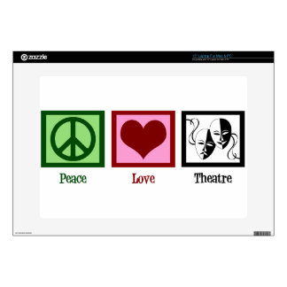 Peace Love Theatre Laptop Decal