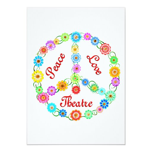 Peace Love Theatre Personalized Announcements