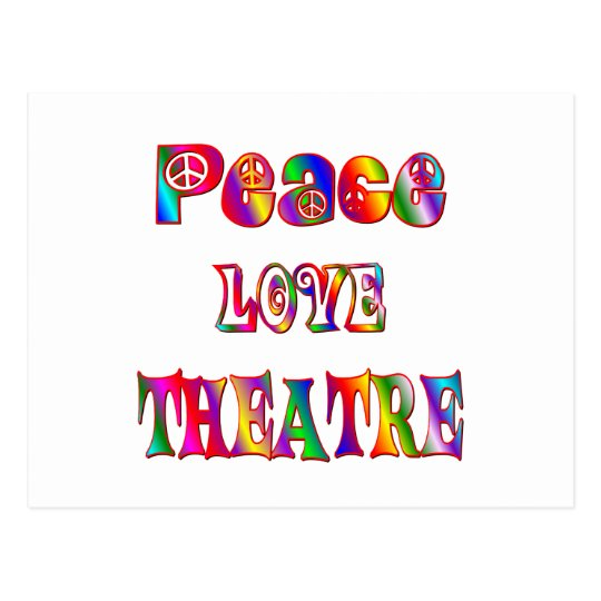 Peace Love Theatre Postcard