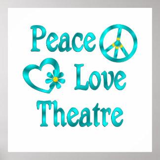 Peace Love Theatre Print