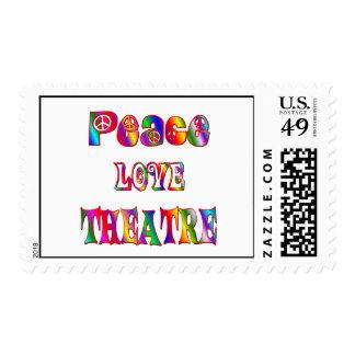 Peace Love Theatre Stamp