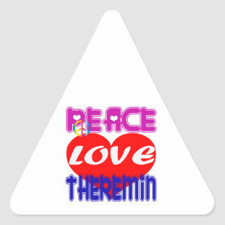 Peace Love Theremin Stickers