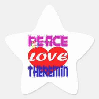 Peace Love Theremin Star Sticker