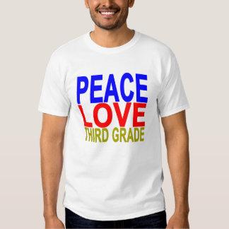 Peace Love Third Grade T-shirt.png Shirt