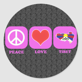 Peace Love Tibet Sticker