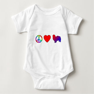 Peace Love Tibetan Spaniels Baby Creeper