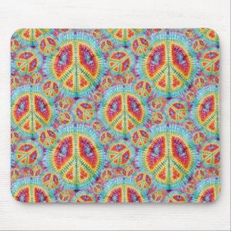 Peace & Love TieDye Mousepad