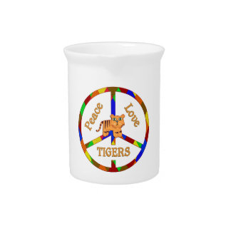 Peace Love Tigers Drink Pitchers