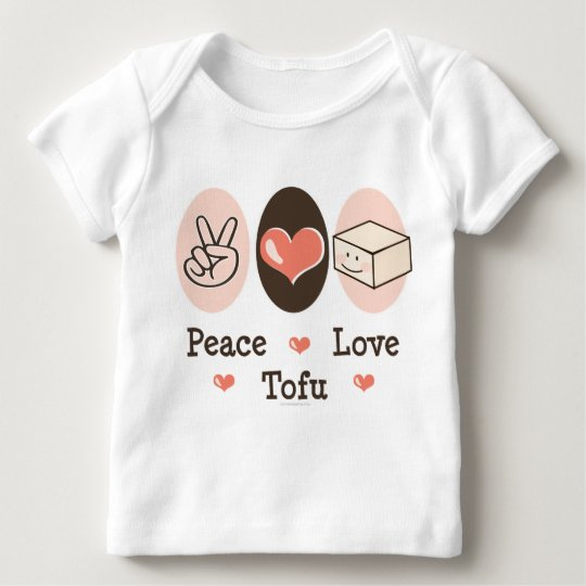 Peace Love Tofu Infant Long Sleeve Tee