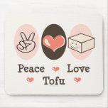Peace Love Tofu Mousepad