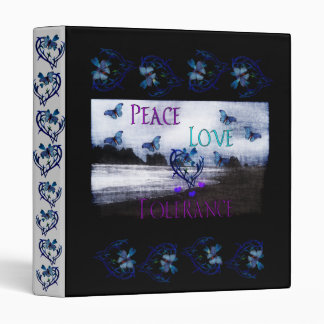 Peace Love Tolerance Binder
