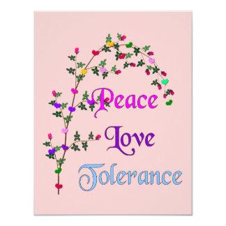 Peace Love Tolerance Card