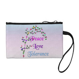 Peace Love Tolerance Coin Wallet