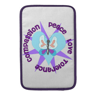 Peace Love Tolerance Compassion Sleeve For MacBook Air