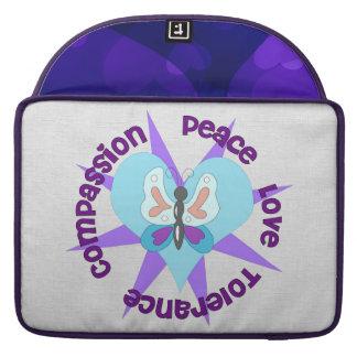 Peace Love Tolerance Compassion Sleeve For MacBooks