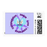 Peace Love Tolerance Compassion Postage Stamp
