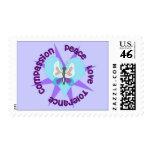 Peace Love Tolerance Compassion Postage Stamp