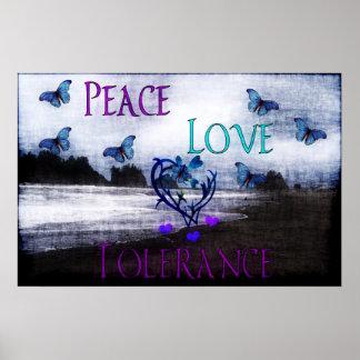 Peace Love Tolerance Poster