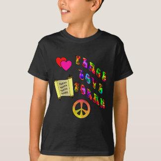 Peace Love Torah Kids' Dark Shirts