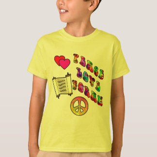 Peace Love Torah Kids' Shirts