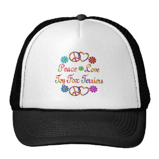 PEACE LOVE TOY FOX TERRIERS MESH HAT