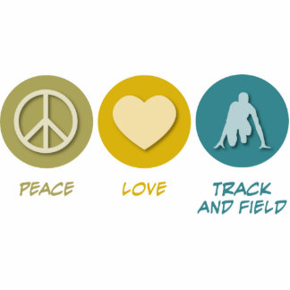 Peace Love Track and Field Photo Cut Out