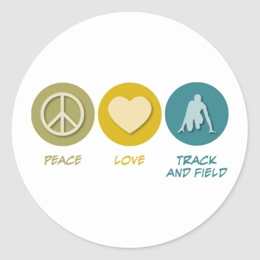 Peace Love Track and Field Sticker