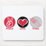 Peace Love Track Mouse Pad