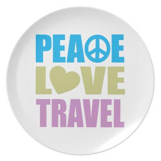 Peace Love Travel Dinner Plate