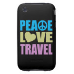 Peace Love Travel Tough iPhone 3 Covers