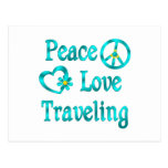 Peace Love Traveling Postcard