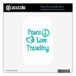 Peace Love Traveling Skin For iPod Touch 4G