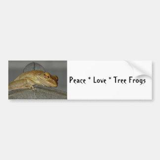 Peace Love Tree Frogs Bumper Sticker