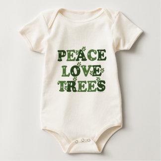 Peace Love Trees Baby Organic Bodysuit