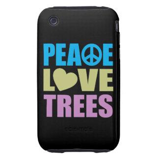 Peace Love Trees Tough iPhone 3 Case