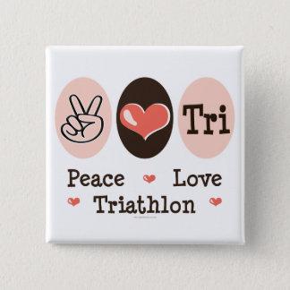 Peace Love Tri Button