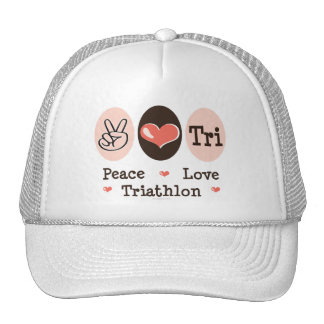 Peace Love Tri Cap Mesh Hats