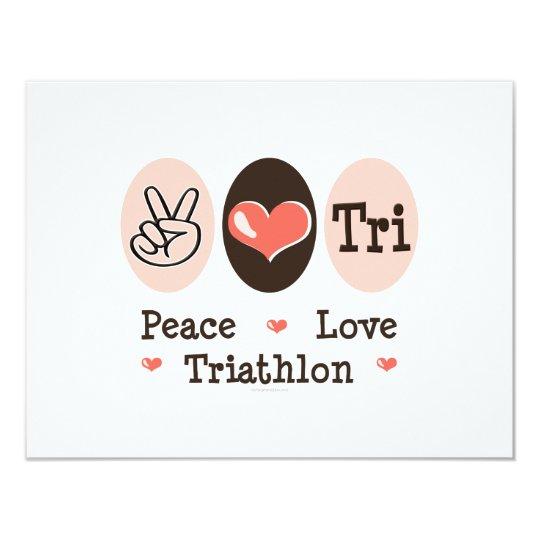 Peace Love Tri Invitation Card