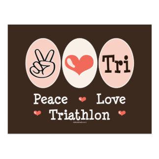 Peace Love Tri Postcard