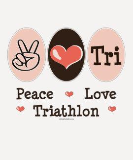 Peace Love Tri Raglan Tshirt