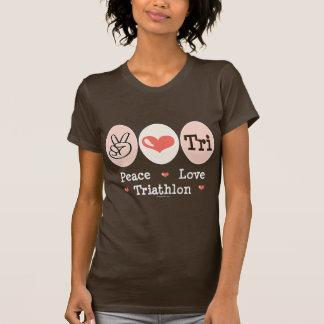 Peace Love Tri Tee Shirt