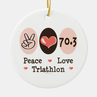 Peace Love Triathlon 70.3 Ornament