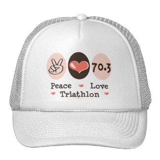 Peace Love Triathlon Hat
