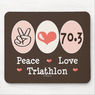 Peace Love Triathlon Mousepad
