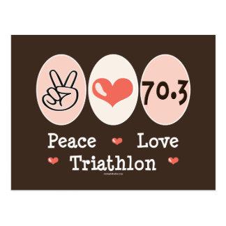Peace Love Triathlon Postcard