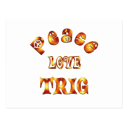 PEACE LOVE TRIG POSTCARD