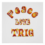 PEACE LOVE TRIG POSTER